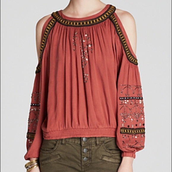 71cb1aaba8c6d Free People beaded cold shoulder top